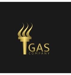 Gas Company logo vector image vector image