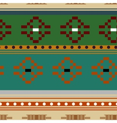Seamless texture with rhombic tribal elements vector image vector image