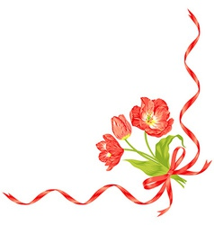 Tulips bouquet vector image vector image