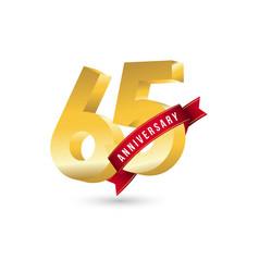 65 year anniversary template design vector