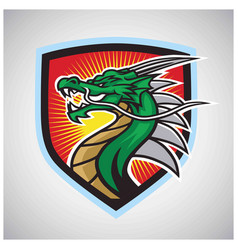 Angry dragon logo esport mascot design vector