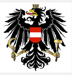 Austrian coat of arms vector