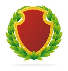 award as ruby shield vector image