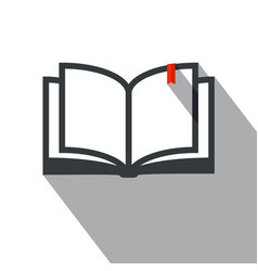 Book icon simple flat design education symbol vector