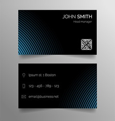 Business card template - modern abstract design vector image