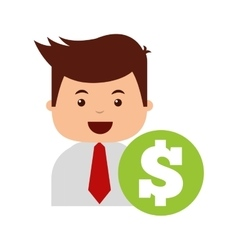 business economy concept icon vector image