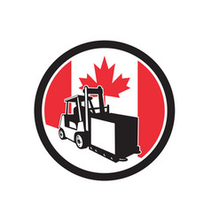 canadian logistics canada flag icon vector image