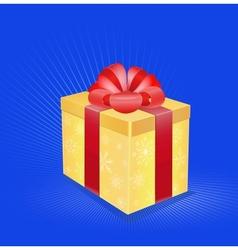 card christmas gift vector image