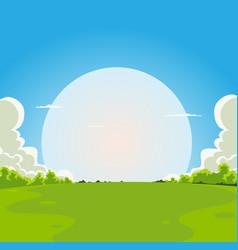 Cartoon moonrise background vector