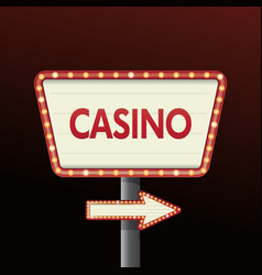 casino banner sign background vector image