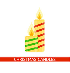 christmas candles isolated vector image