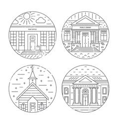 City architecture design vector image