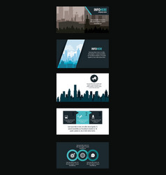city brochure infographic vector image