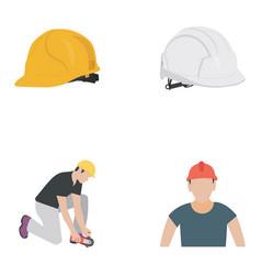 Civil engineering flat icons vector