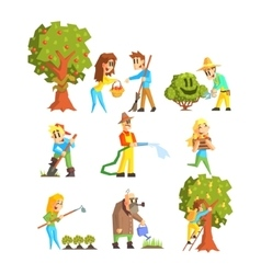 Collection of fruit farm vector