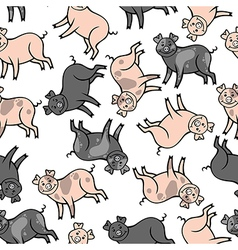 Color pig pattern vector