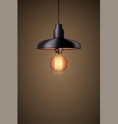 Decorative edison light bulb with chandelier vector