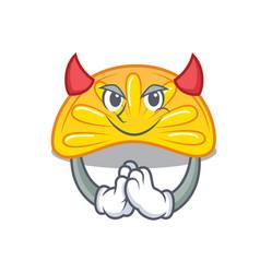 Devil orange jelly candy mascot cartoon vector