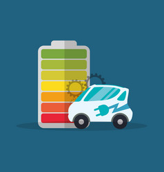 ecology car electric battery vector image