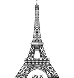 Eiffel tower in paris eps 10 vector