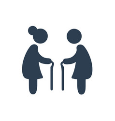 Elderly people icon vector