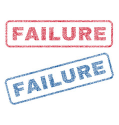 Failure textile stamps vector