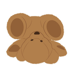 Fallen teddy bear vector
