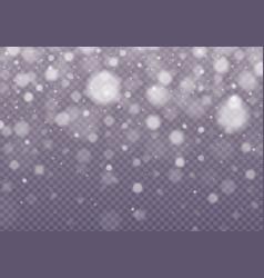 Falling snow effect vector