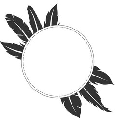feather frame design vector image