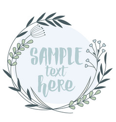 frame with leaves vector image