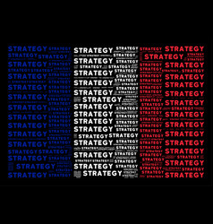 French flag mosaic of strategy texts vector