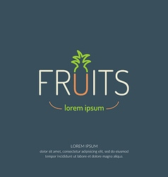 Fruit poster vector