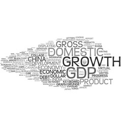 Gdp word cloud concept vector