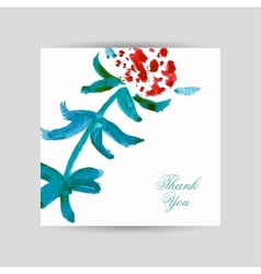 Greeting card with flower vector