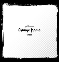grunge frame hand drawn textured design elements vector image