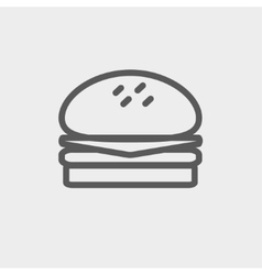 Hamburger thin line icon vector image