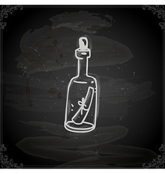 Hand Drawn Message in a Bottle vector image