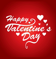 Happy valentinesday card with red pattern vector