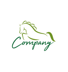 horse logo design bundle vector image