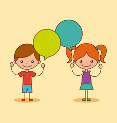 kids happy vector image