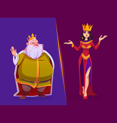 king and queen medieval royal family characters vector image