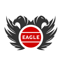 logo two eagle heads vector image