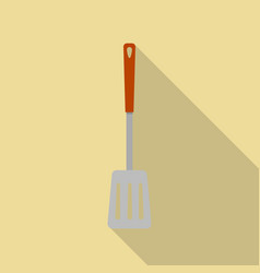 metal spatula icon flat style vector image