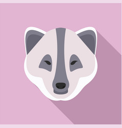 Polar fox icon flat style vector