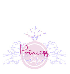 princess birthday party card color girl projekt vector image