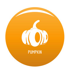 pumpkin icon orange vector image