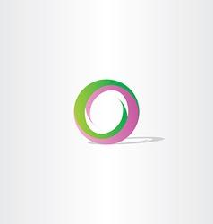 purple green letter o logo design vector image