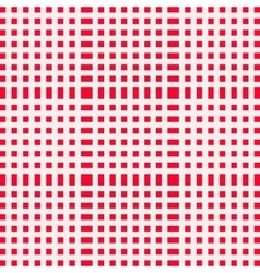 Red and white gingham clothtable for a picnic or vector