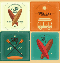 Retro surfing posters vector