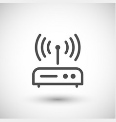 Router line icon vector